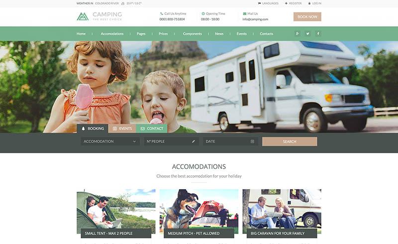 création de site web camping